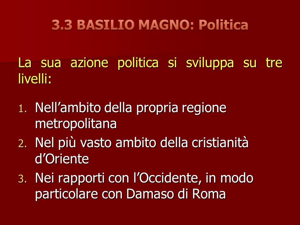 3.3 BASILIO MAGNO: Politica