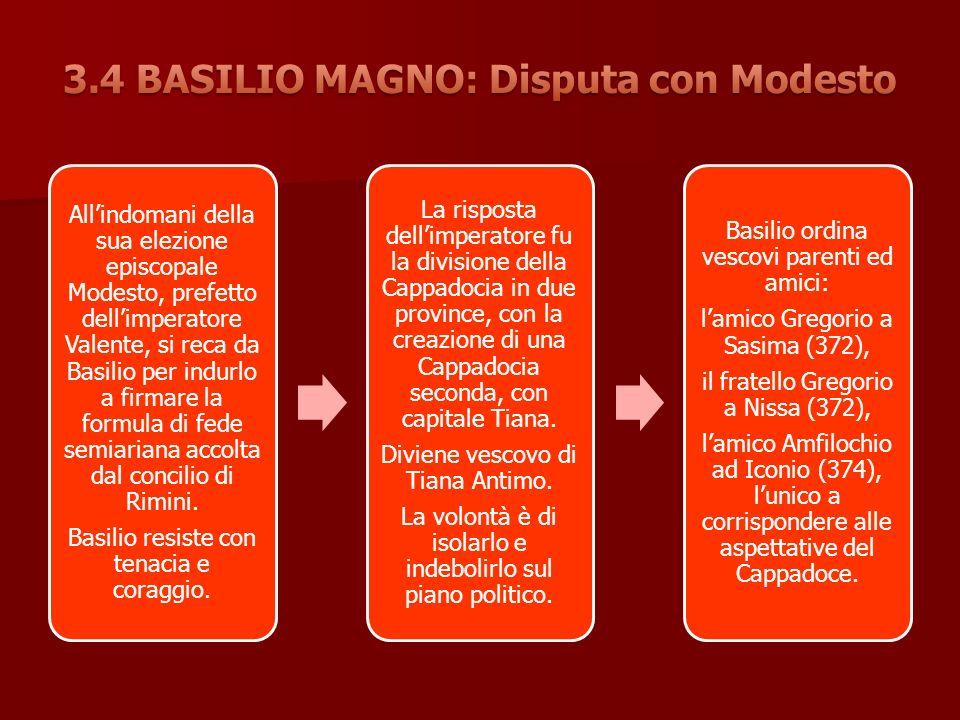 3.4 BASILIO MAGNO: Disputa con Modesto