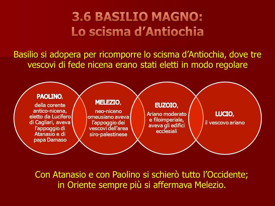 3.6 BASILIO MAGNO: Lo scisma d'Antiochia