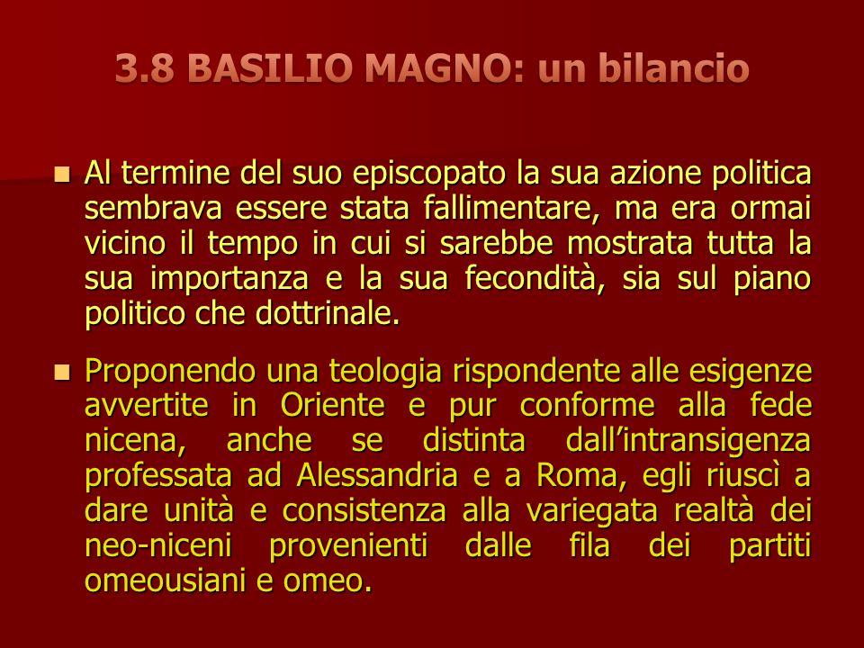 3.8 BASILIO MAGNO: un bilancio