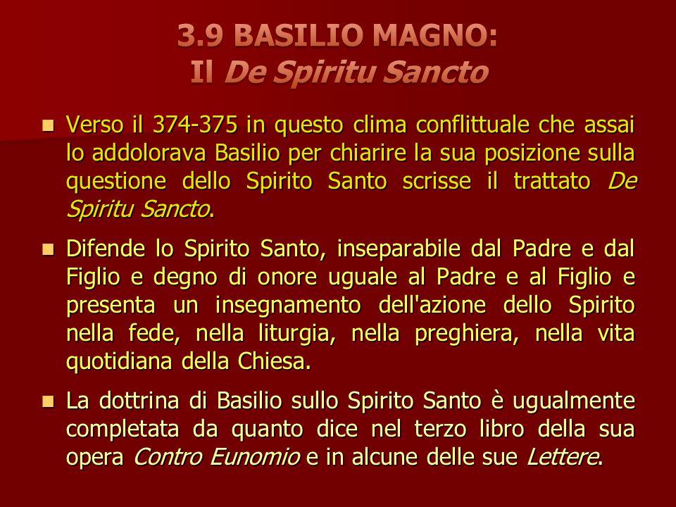 3.9 BASILIO MAGNO: Il De Spiritu Sancto