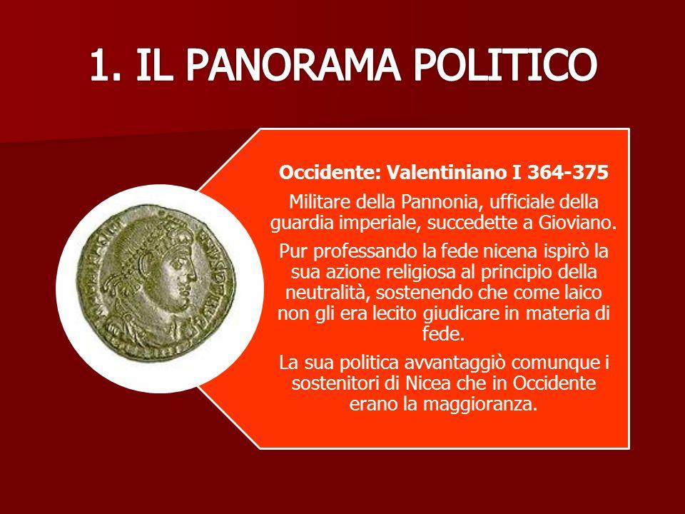 Occidente: Valentiniano I 364-375