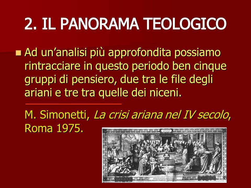 2. IL PANORAMA TEOLOGICO