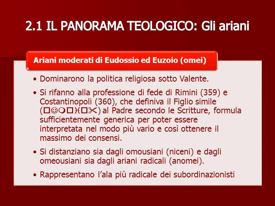 2.1 IL PANORAMA TEOLOGICO: Gli ariani