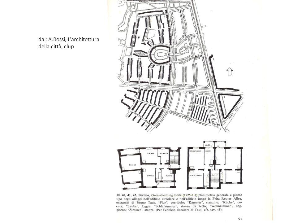 da : A.Rossi, L'architettura della città, clup