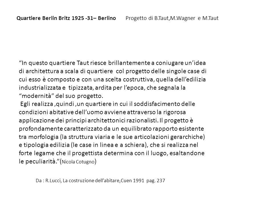 Da : R.Lucci, La costruzione dell'abitare,Cuen 1991 pag. 237