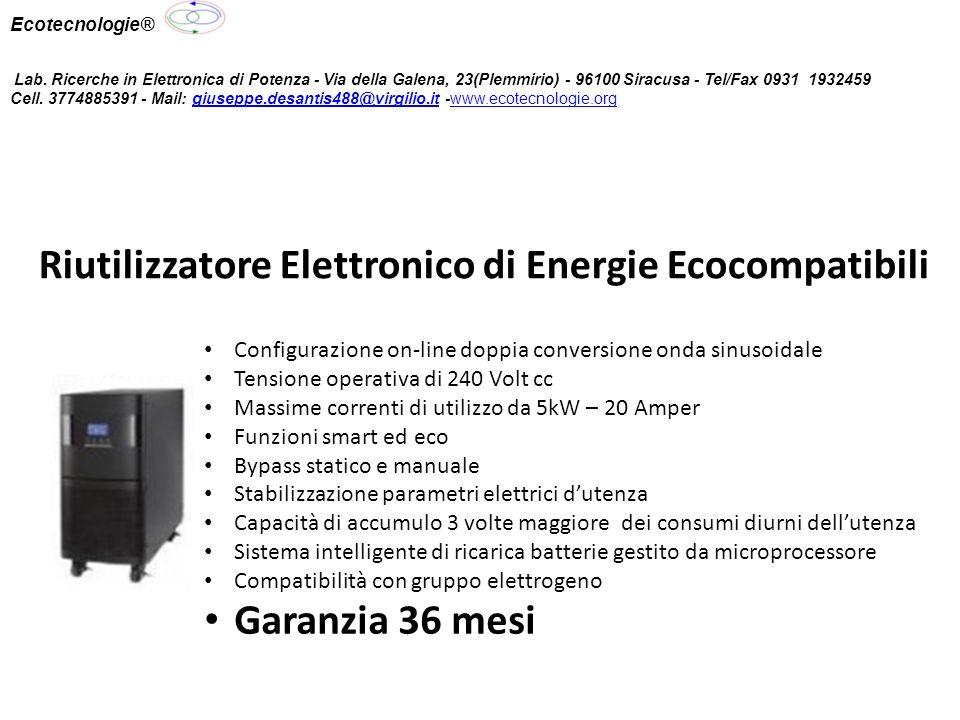 Riutilizzatore Elettronico di Energie Ecocompatibili