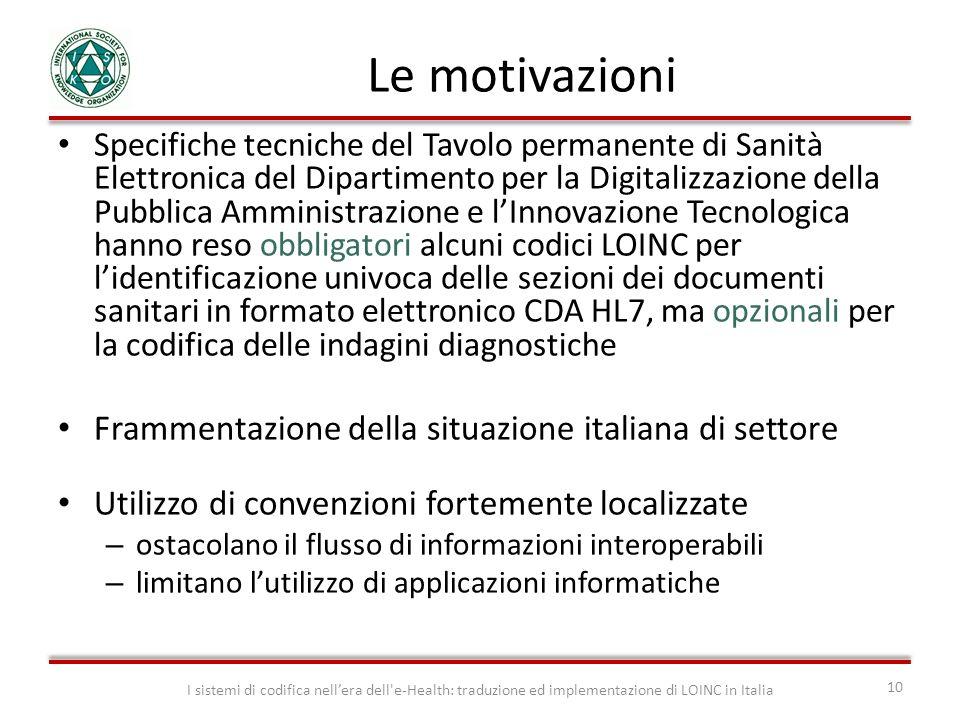 Le motivazioni Frammentazione della situazione italiana di settore