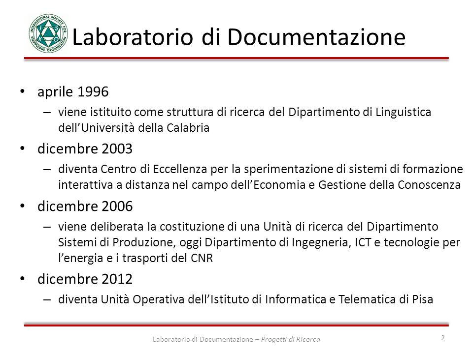 Laboratorio di Documentazione