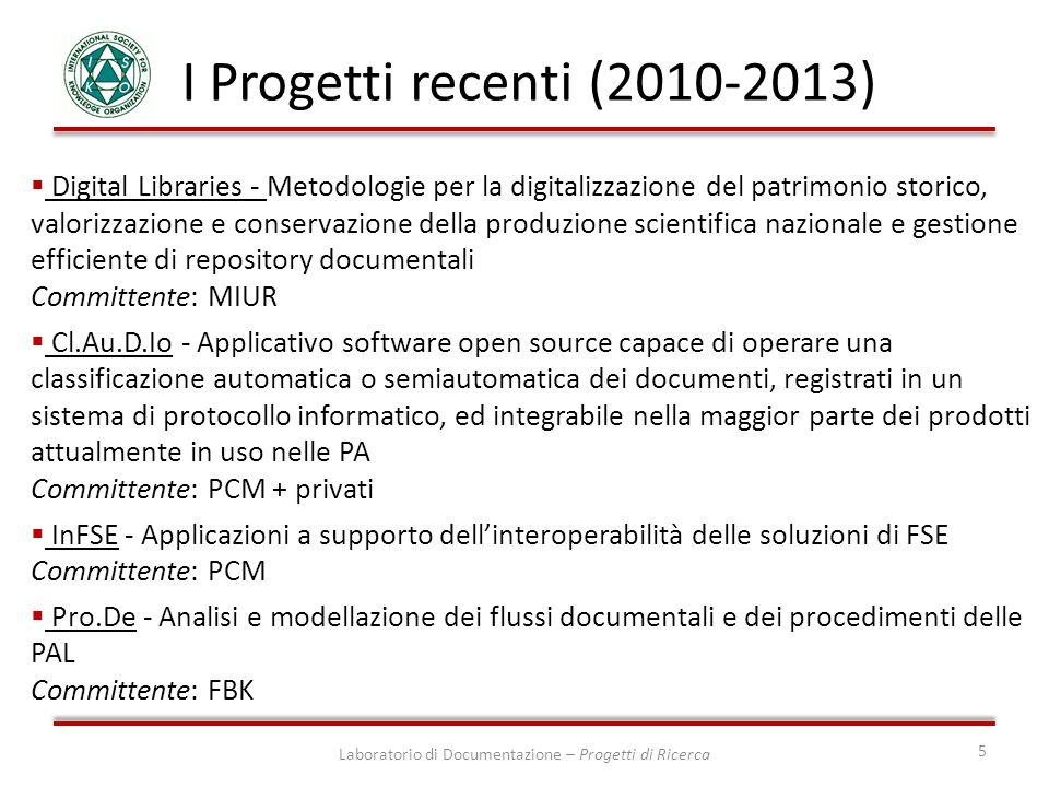 Laboratorio di Documentazione – Progetti di Ricerca