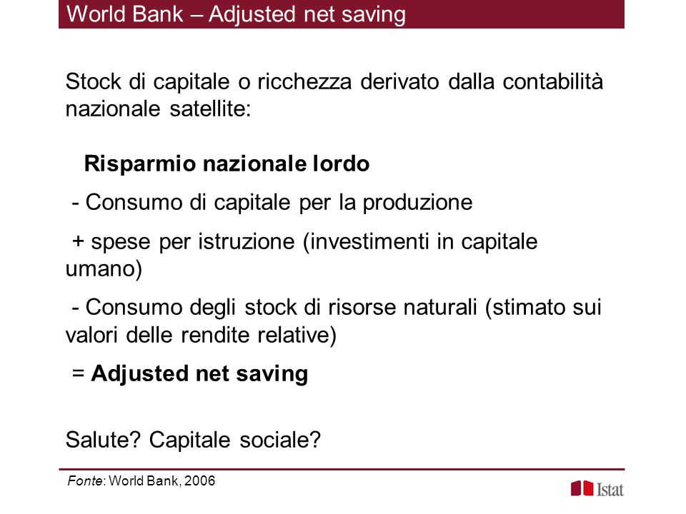 World Bank – Adjusted net saving