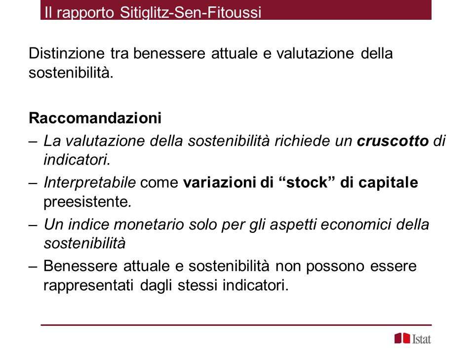 Il rapporto Sitiglitz-Sen-Fitoussi