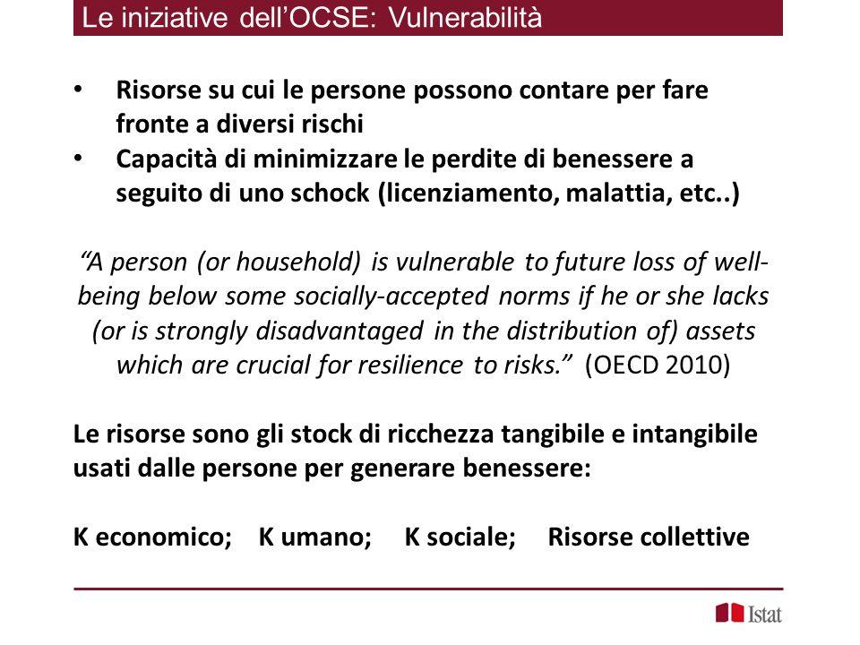 Le iniziative dell'OCSE: Vulnerabilità