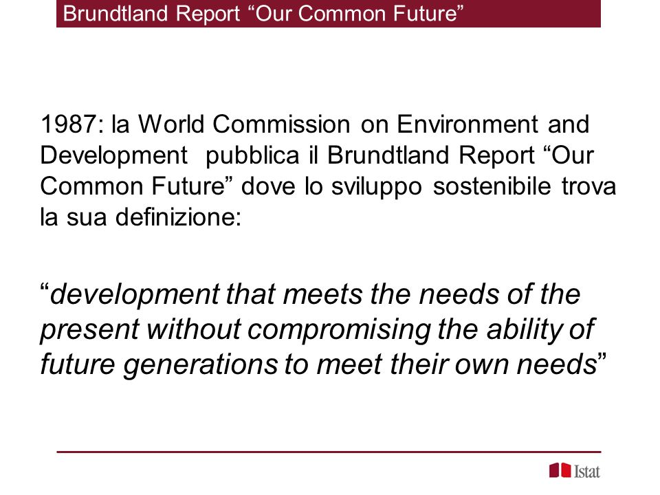 Brundtland Report Our Common Future