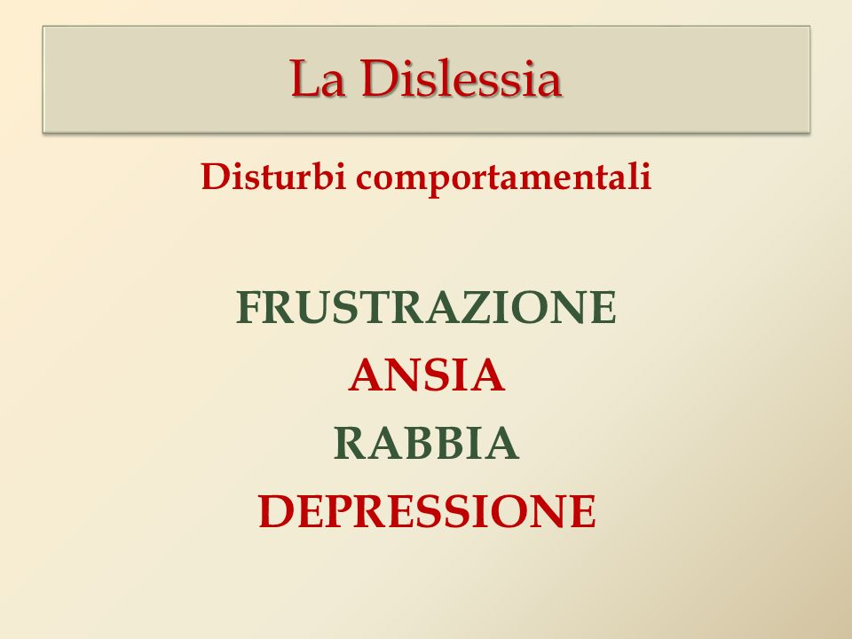 Disturbi comportamentali