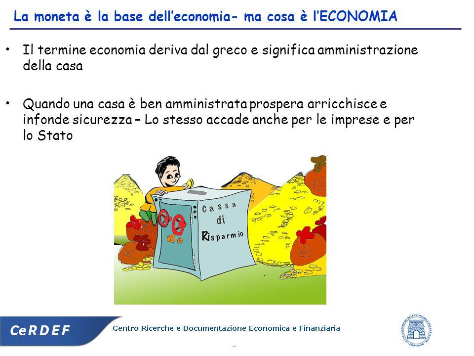 La moneta è la base dell'economia- ma cosa è l'ECONOMIA
