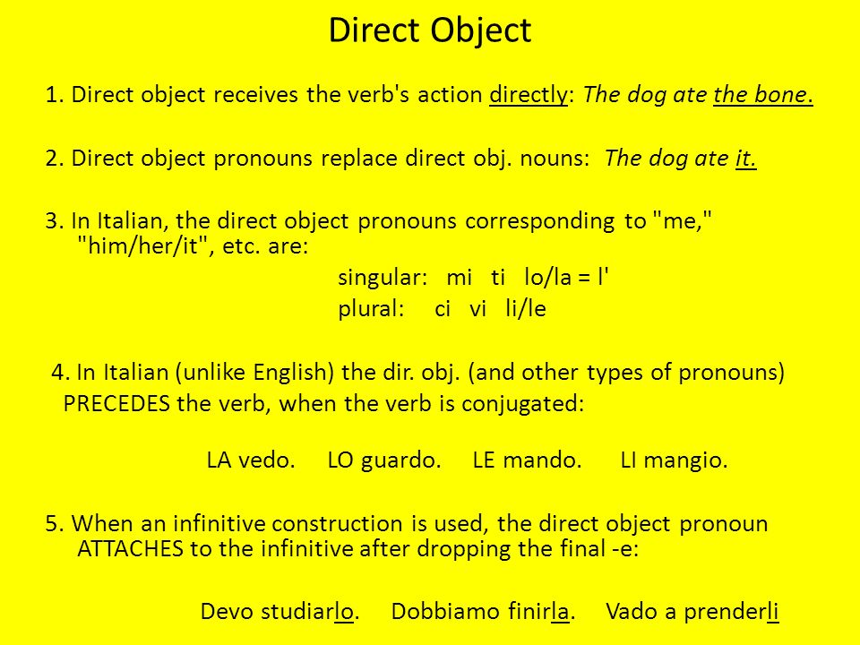 Direct Object