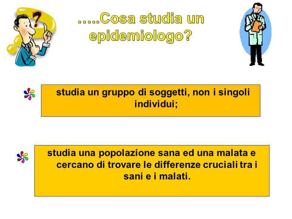 …..Cosa studia un epidemiologo