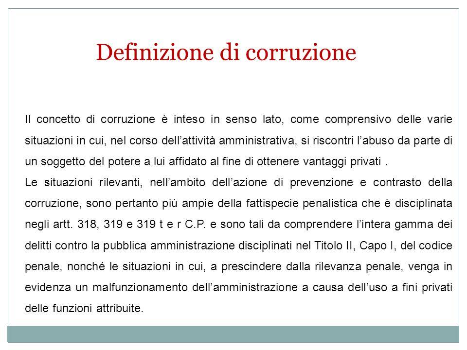 Definizione di corruzione