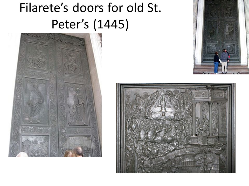 Filarete's doors for old St. Peter's (1445)