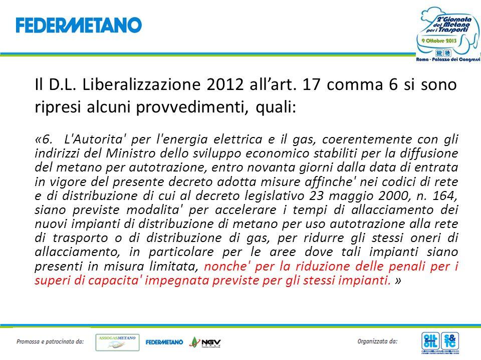 Il D. L. Liberalizzazione 2012 all'art