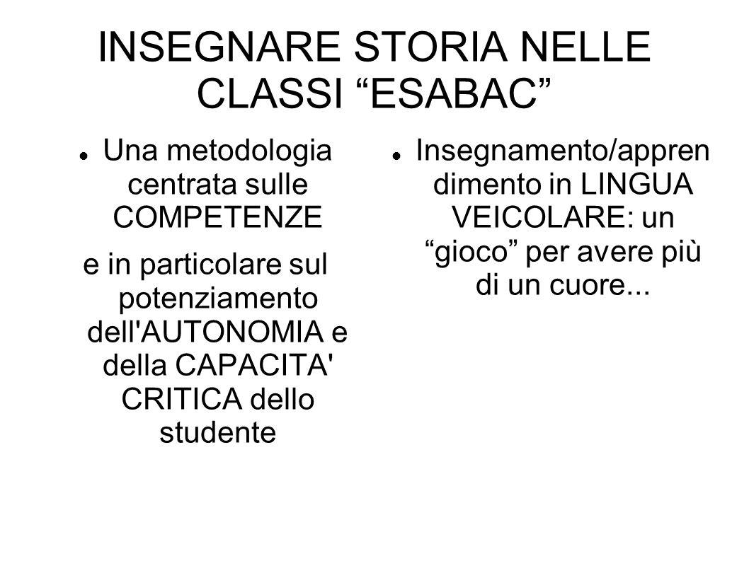 INSEGNARE STORIA NELLE CLASSI ESABAC