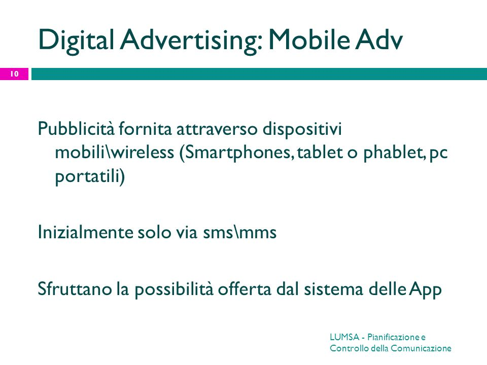 Digital Advertising: Mobile Adv
