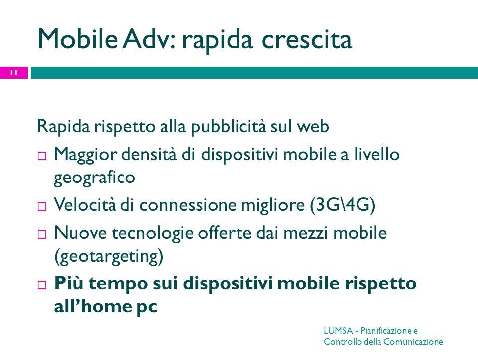 Mobile Adv: rapida crescita