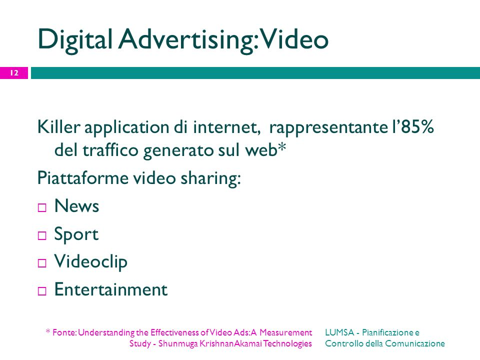 Digital Advertising: Video