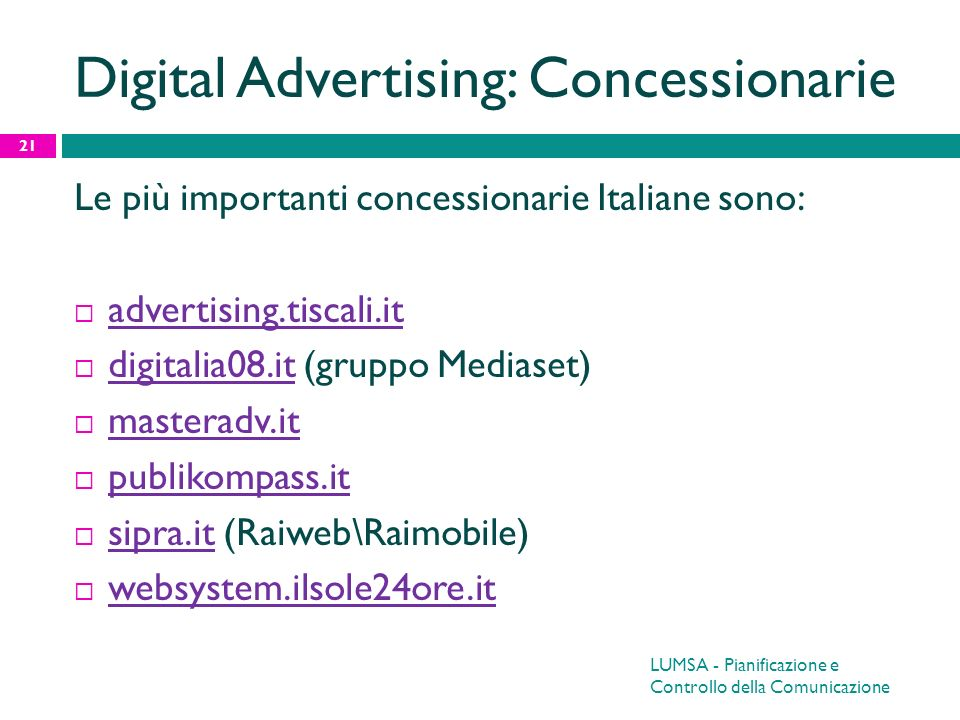 Digital Advertising: Concessionarie
