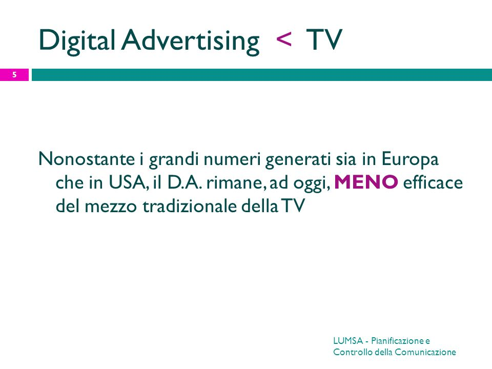 Digital Advertising < TV