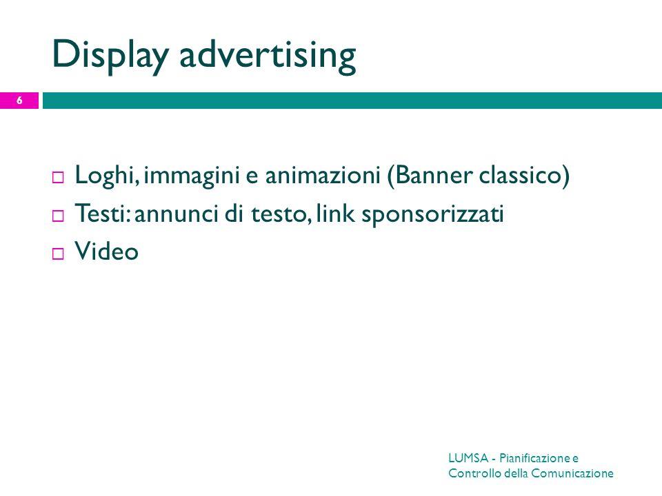 Display advertising Loghi, immagini e animazioni (Banner classico)