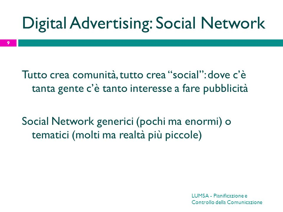 Digital Advertising: Social Network