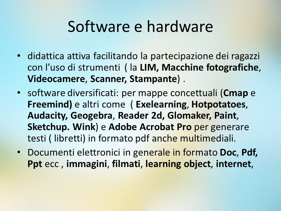 Software e hardware