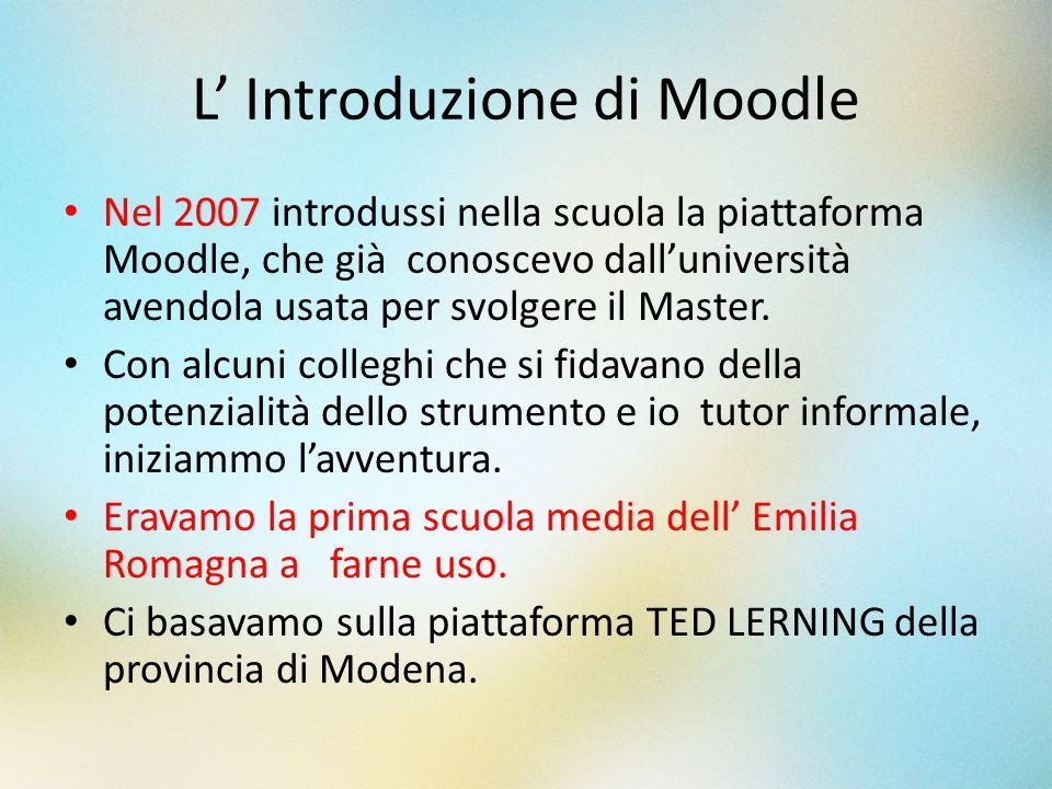 L' Introduzione di Moodle