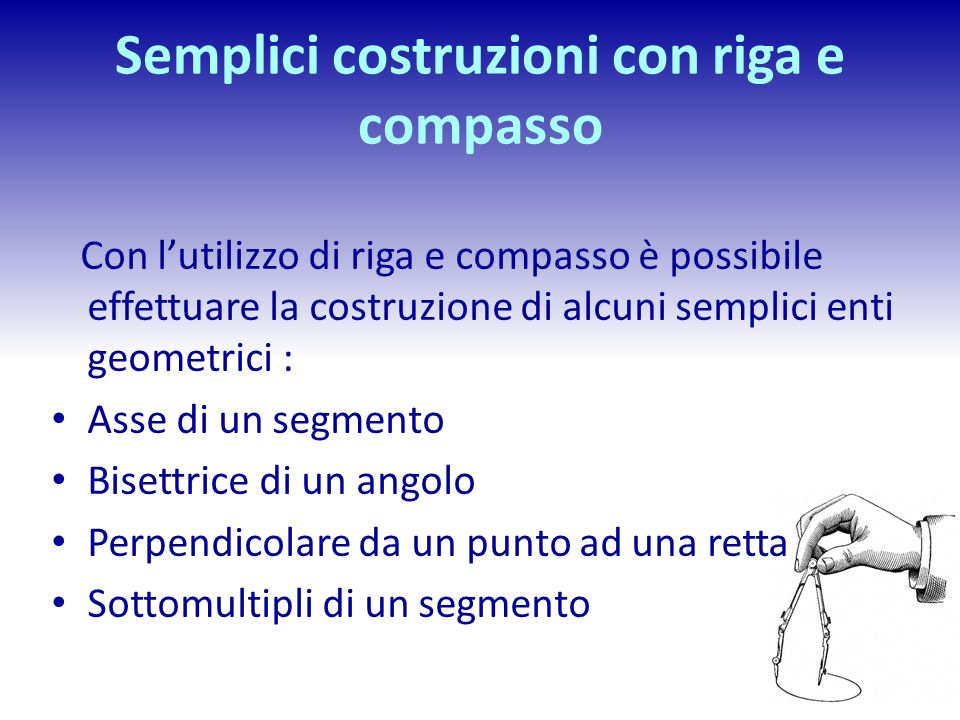 Semplici costruzioni con riga e compasso