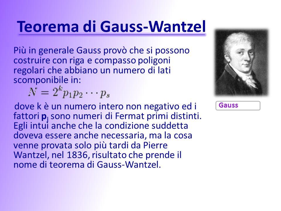 Teorema di Gauss-Wantzel