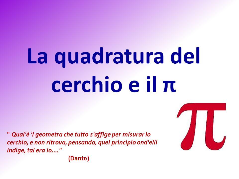 La quadratura del cerchio e il π