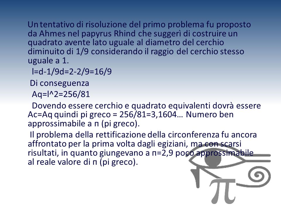 l=d-1/9d=2-2/9=16/9 Di conseguenza Aq=l^2=256/81