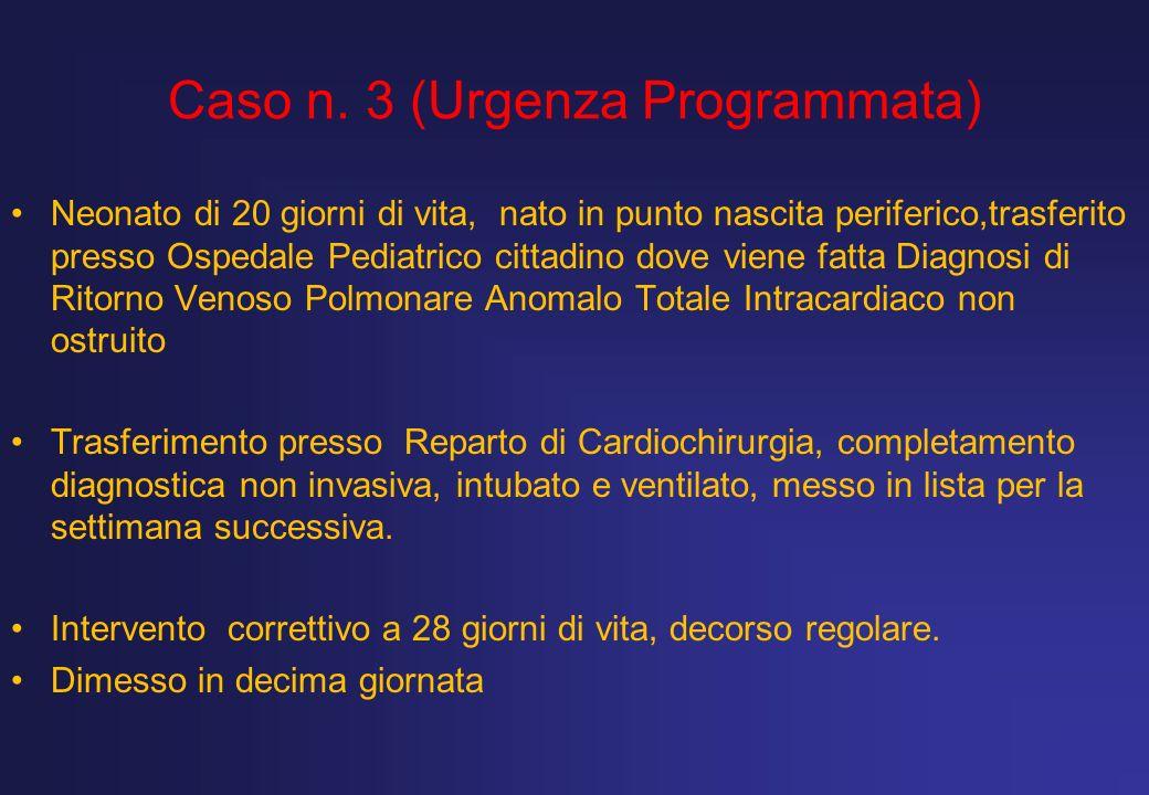 Caso n. 3 (Urgenza Programmata)