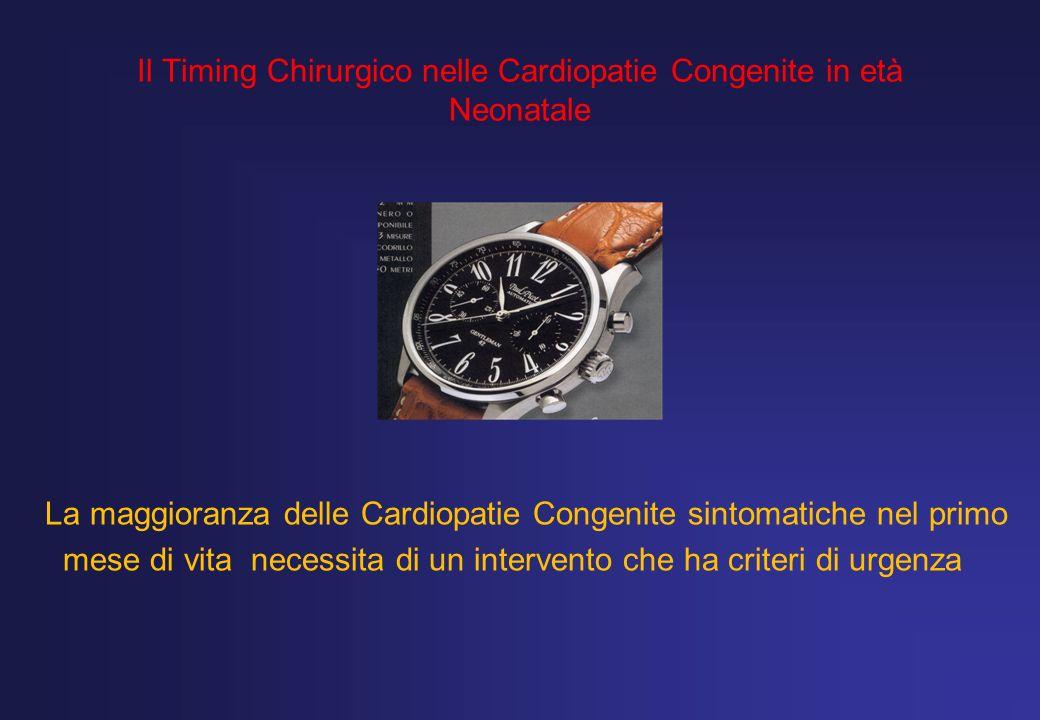 Il Timing Chirurgico nelle Cardiopatie Congenite in età Neonatale