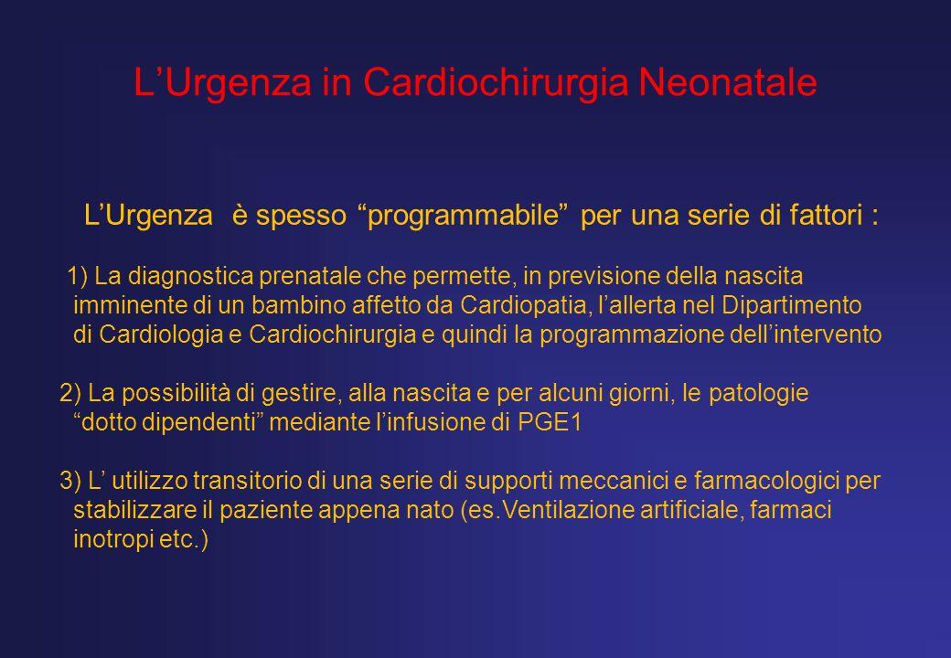 L'Urgenza in Cardiochirurgia Neonatale