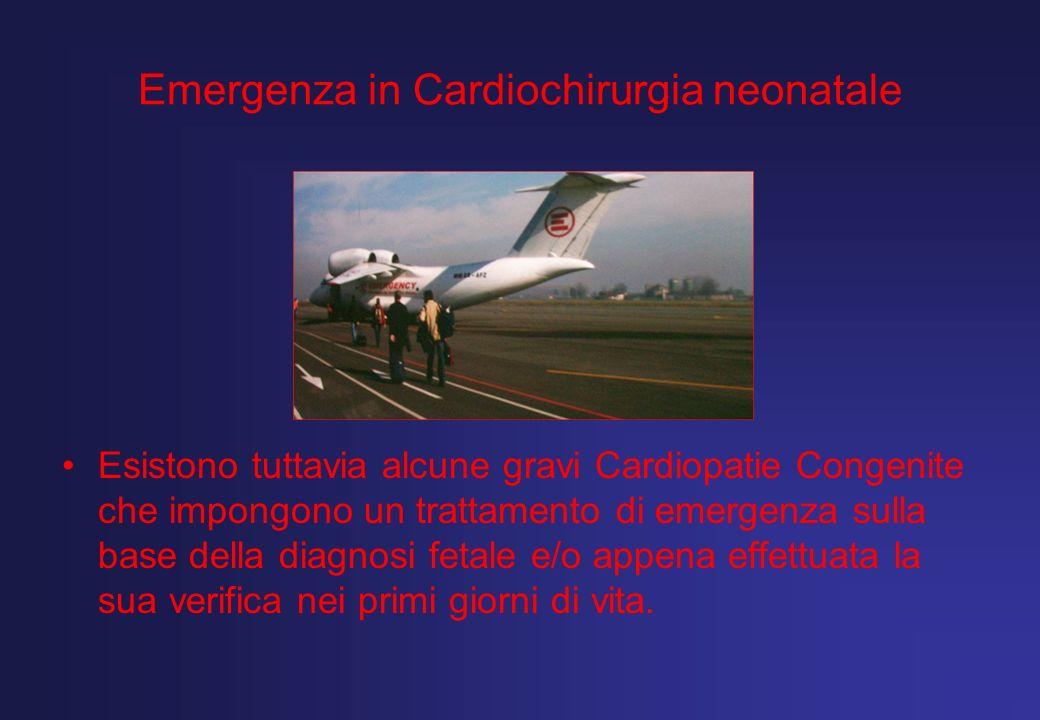 Emergenza in Cardiochirurgia neonatale