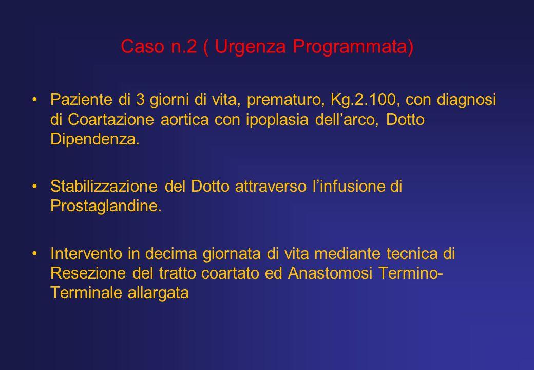 Caso n.2 ( Urgenza Programmata)