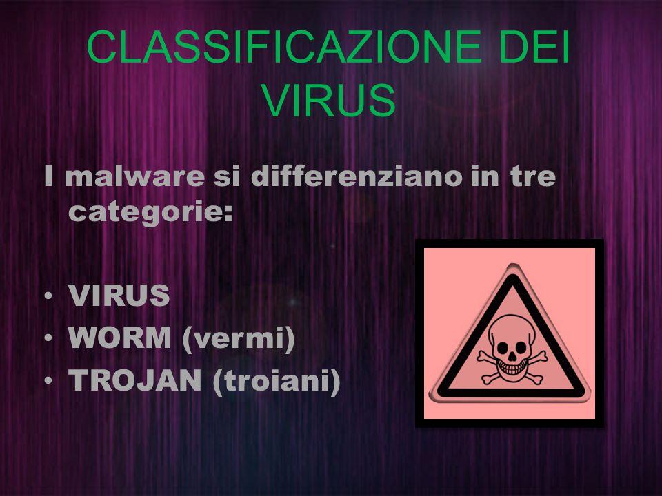 CLASSIFICAZIONE DEI VIRUS