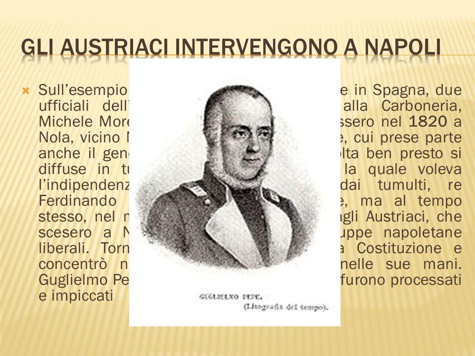 Gli Austriaci intervengono a Napoli