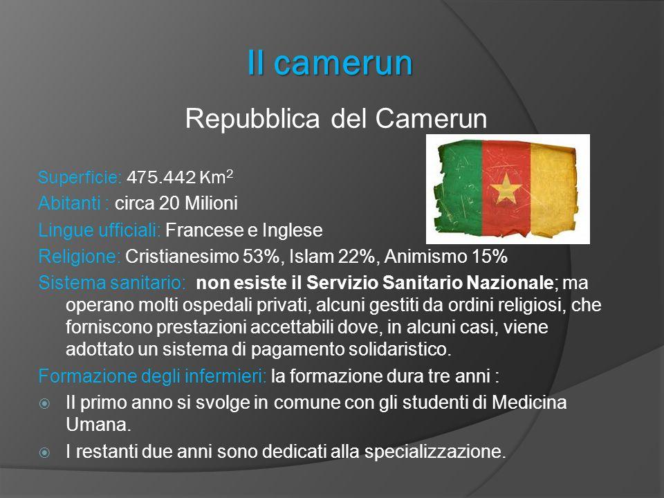 Il camerun Repubblica del Camerun Superficie: 475.442 Km2