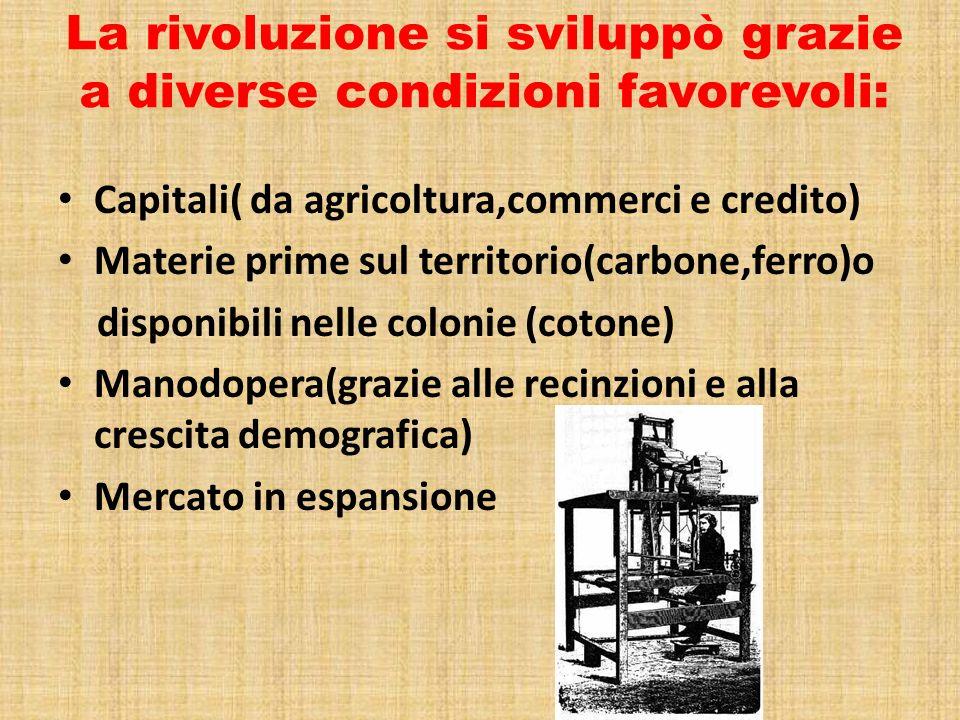 La rivoluzione si sviluppò grazie a diverse condizioni favorevoli: