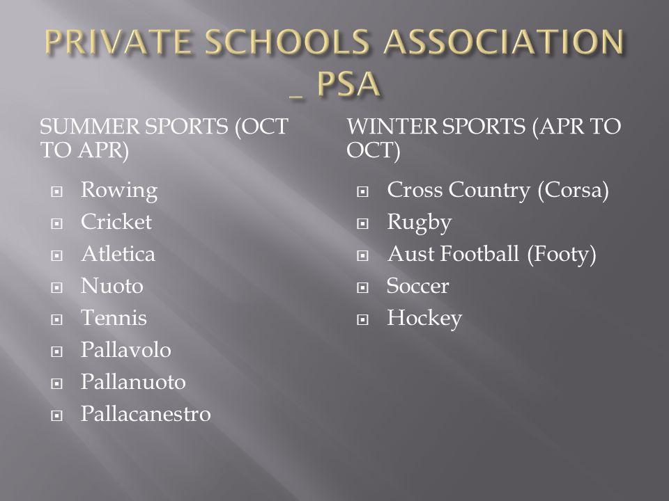 PRIVATE SCHOOLS ASSOCIATION _ PSA
