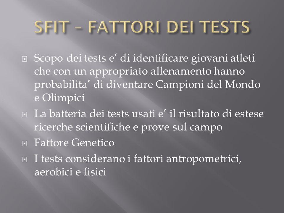 SFIT – FATTORI DEI TESTS